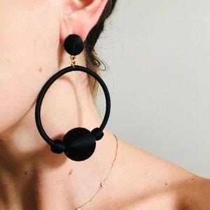 Chic Black Statement Earrings